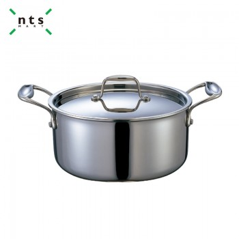 Compound Steel Pot with Fixed Handles-Stainless Steel 304