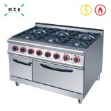 6 Gas Burner with Electric Oven