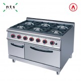 6 Gas Burner with Gas Oven