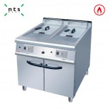 2 Tank Gas Fryer(2 Baskets) with Cabinet