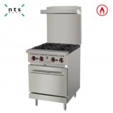 4 Gas Burner with Gas Oven(with Rear Plate)