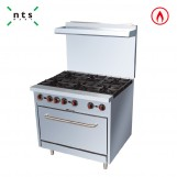 6 Gas Burner with Gas Oven(with Rear Plate)