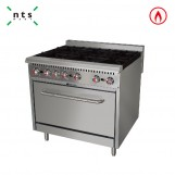 6 Gas Burner with Gas Oven(without Rear Plate)