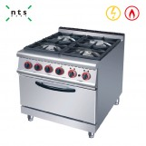 4 Gas Burner with Electric Oven
