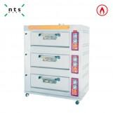3 Decks Gas Oven with Steam