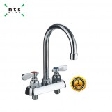 Double workboard faucet