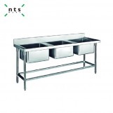 Stainless steel 201 European Style Three Sinks