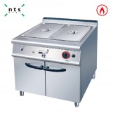 Gas Bain Marie with Cabinet