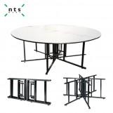 Multiple use series folding table