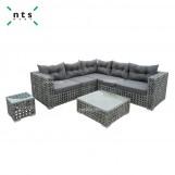 Rattan Aluminum Side Table