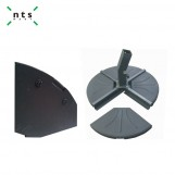 Fan Shaped Umbrella Base 20 KGS, Black