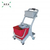 MINI CLEANING TROLLEY WITH FUNNEL TYPE WRINGER